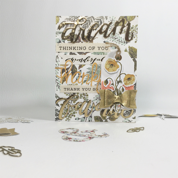 Thankful Card by Aimee Maddern for We R Memory Keepers featuring the Wildflower collection #thanksgiving #wermemorykeepers #cards