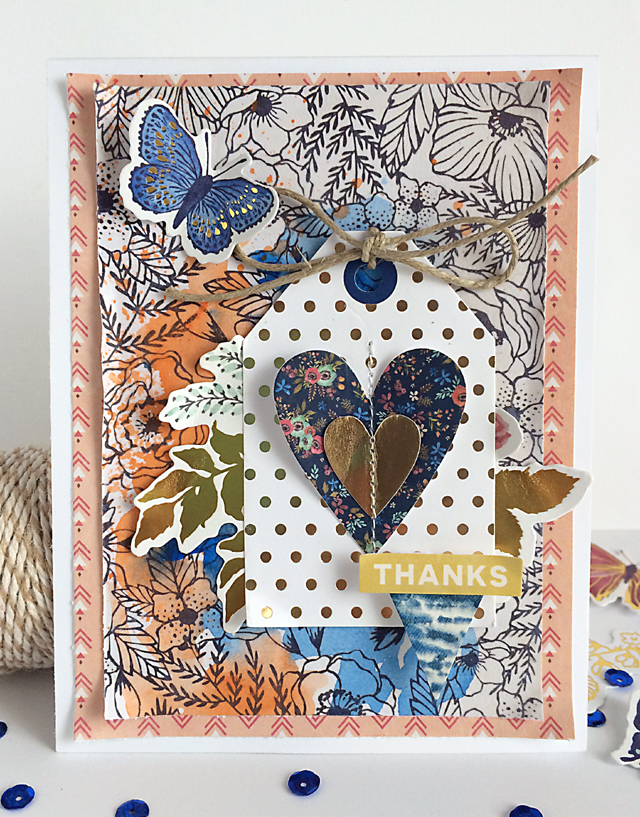 Thanks card by Daniela Dobson for We R Memory Keepers #thanksgiving #cards #wildflower
