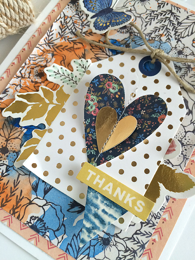 Thanks card close up by Daniela Dobson for We R Memory Keepers #thanksgiving #cards #wildflower