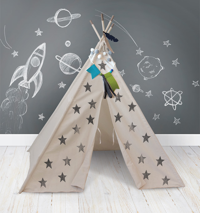 We R Memory Keepers + Crate Paper DIY Teepee kit #DIYteepee #walmartcom