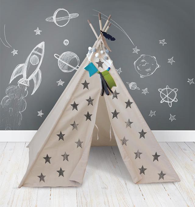We R Memory Keepers + Crate Paper DIY Teepee kit #DIYteepee #walmartcom