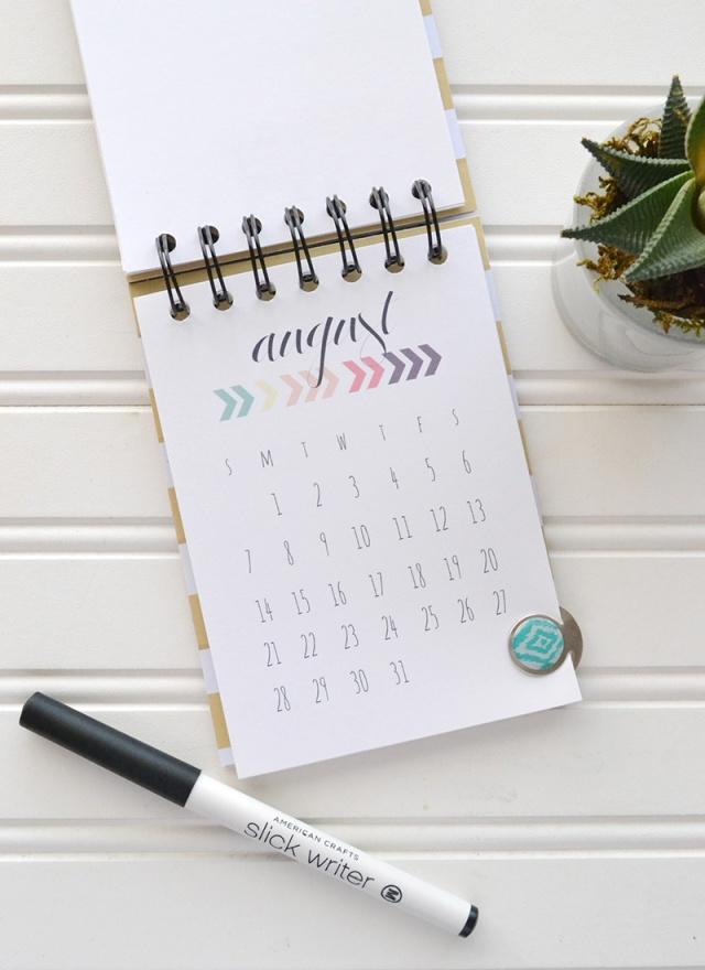 2016 Printable Desk Calendar We R Memory Keepers Blog