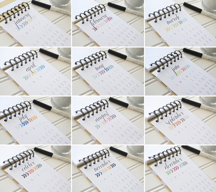 2016 Printable Calendar by Aly Dosdall_collage