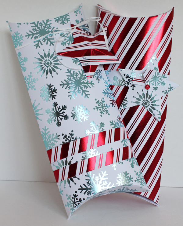 Christmas Pillow Boxes with Star Tags by Samantha Taylor We R Memory Keepers