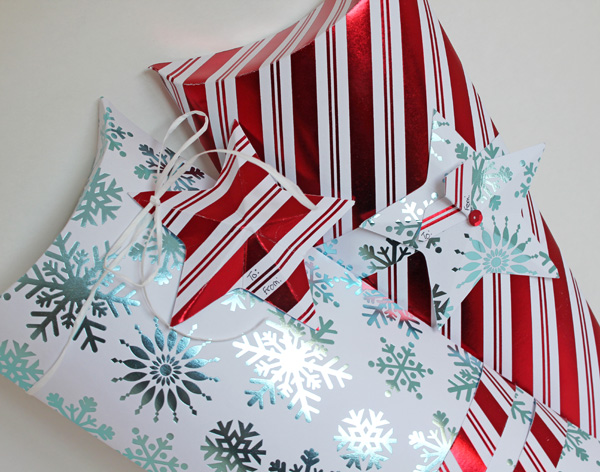 Christmas Pillow Boxes with Star Tags by Samantha Taylor for We R Memory Keepers