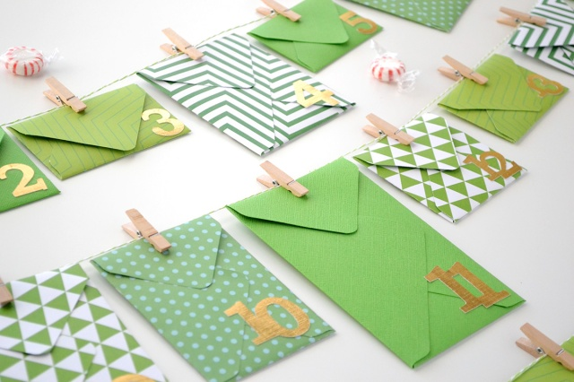 Advent Calendar Envelopes Ideas : Aly dosdall envelope advent calendar