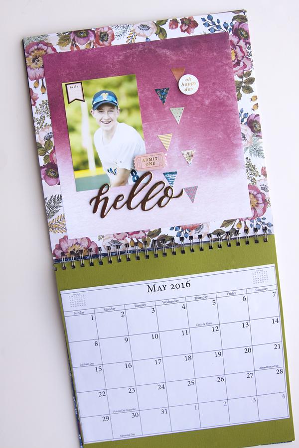 2016 Cinch Scrapbook Calendar by Jennie McGarvey for We R Memory Keepers