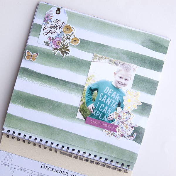 2016 Cinch Scrapbook Calendar by Jennie McGarvey for We R Memory Keepers