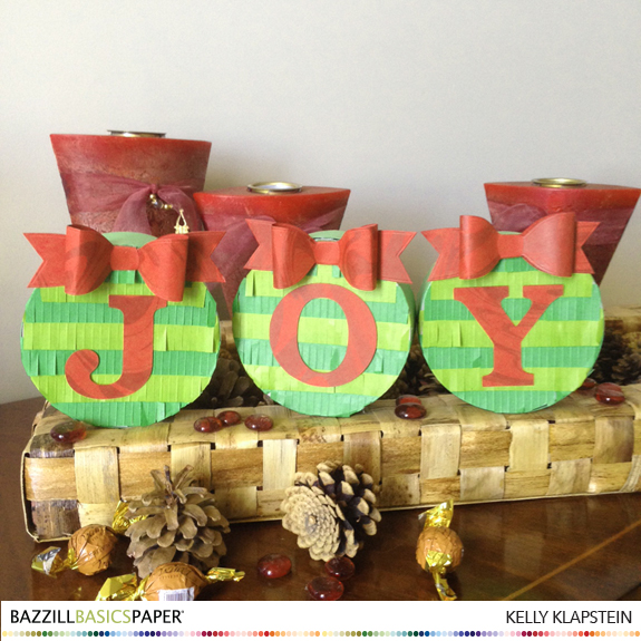 Mini Piñata Christmas Crackers by Kelly Klapstein for Bazzill Basics