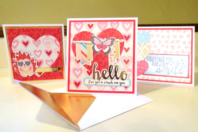 Crush Valentine card set by Carrie Walz