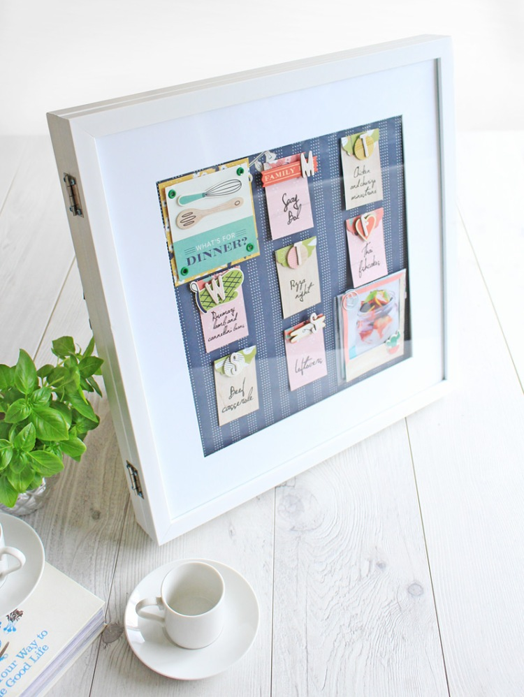 Organization Gallery Menu Planner featuring the We R Memory Keepers Honey I'm Home collection by Chantalle McDaniel
