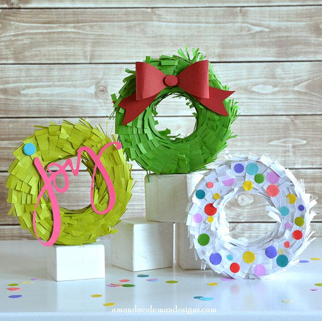 Mini Wreath Pinatas DIY