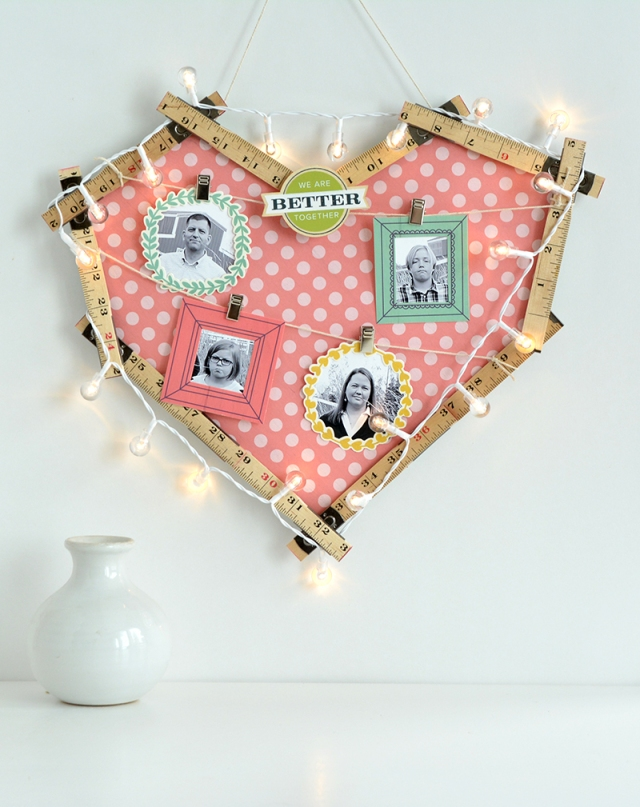 Ruler Studio Heart Frame by Amanda Coleman for We R Memory Keepers