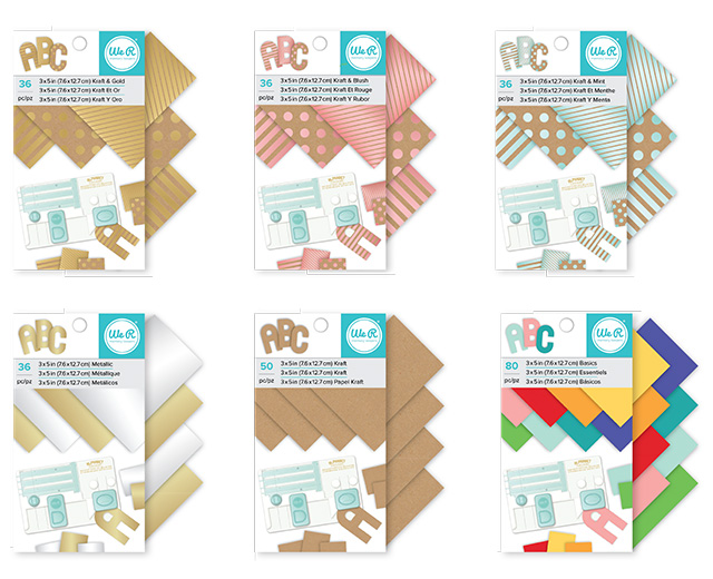 3 5 paper pads we r memory keepers blog for Pre punched paper for crafts