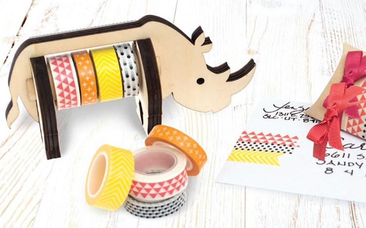 We R Memory Keepers Animal Washi Tape Dispenser Rhino