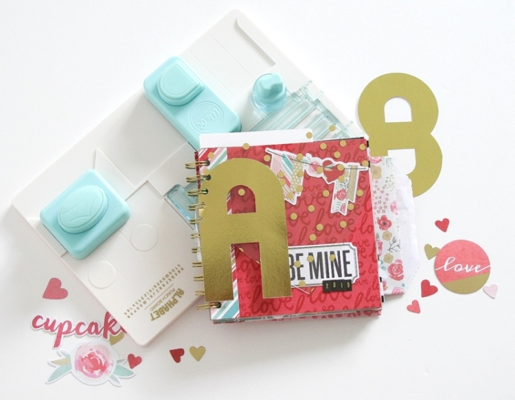A Mini Book featuring the Alphabet Punch Board by Wendy Antenucci for We R Memory Keepers
