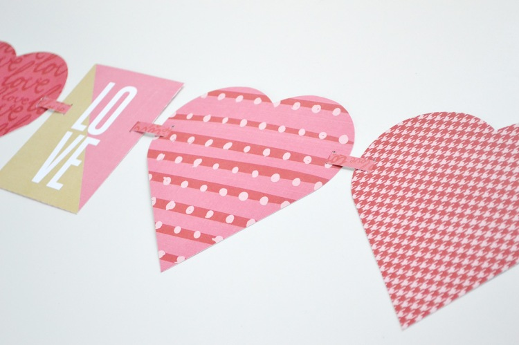 Alphabet Punch Board Heart Garland by Aly Dosdall close 1