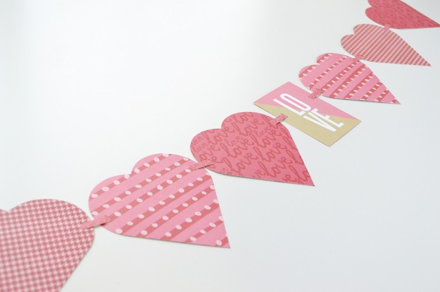Alphabet Punch Board Heart Garland by Aly Dosdall close 2