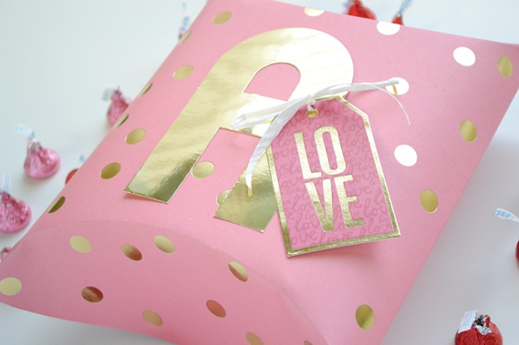Alphabet Punch Board Pillow Box by Aly Dosdall close