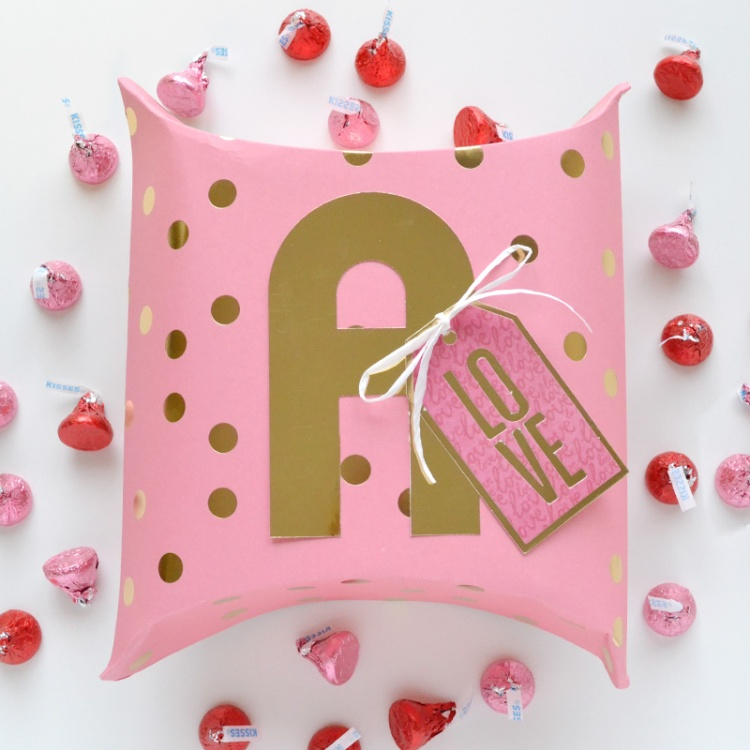 Alphabet Punch Board Pillow Box by Aly Dosdall