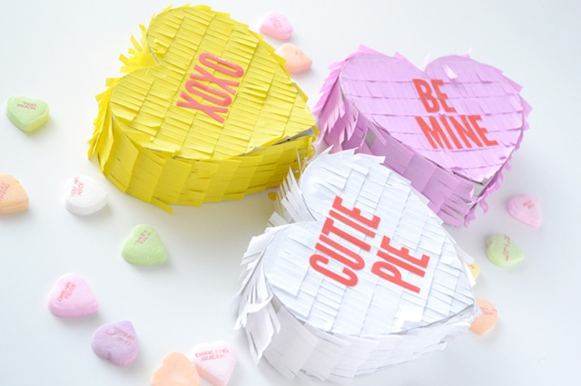 Conversation Heart Mini Piñatas by Aly Dosdall 2
