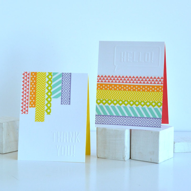 Washi Tape Cards by Amanda Coleman for We R Memory Keepers