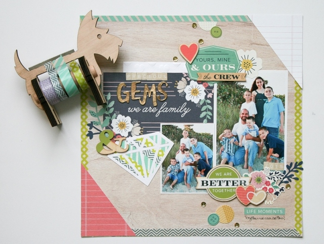 Scrapbook Page Featuring Washi Tape Die Cuts by Wendy Antenucci for We R Memory Keepers