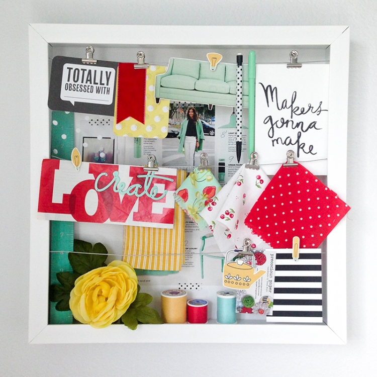 WRMK Organization Gallery Inspiration Board by Tessa Buys for We R Memory Keepers