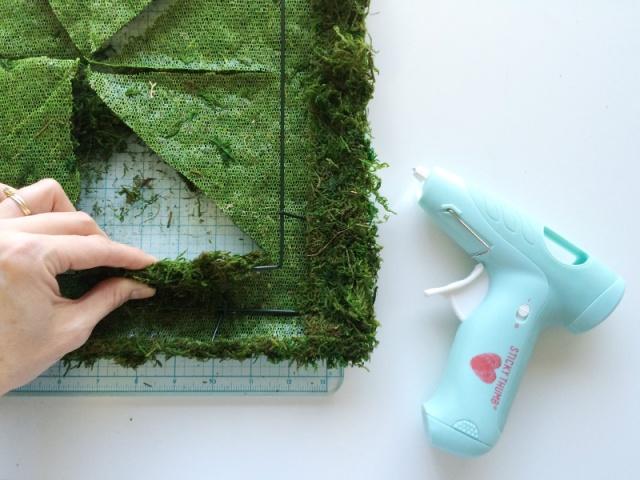 hot glue moss