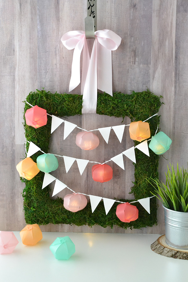 Light Strand Moss Wreath by Aly Dosdall for We R Memory Keepers