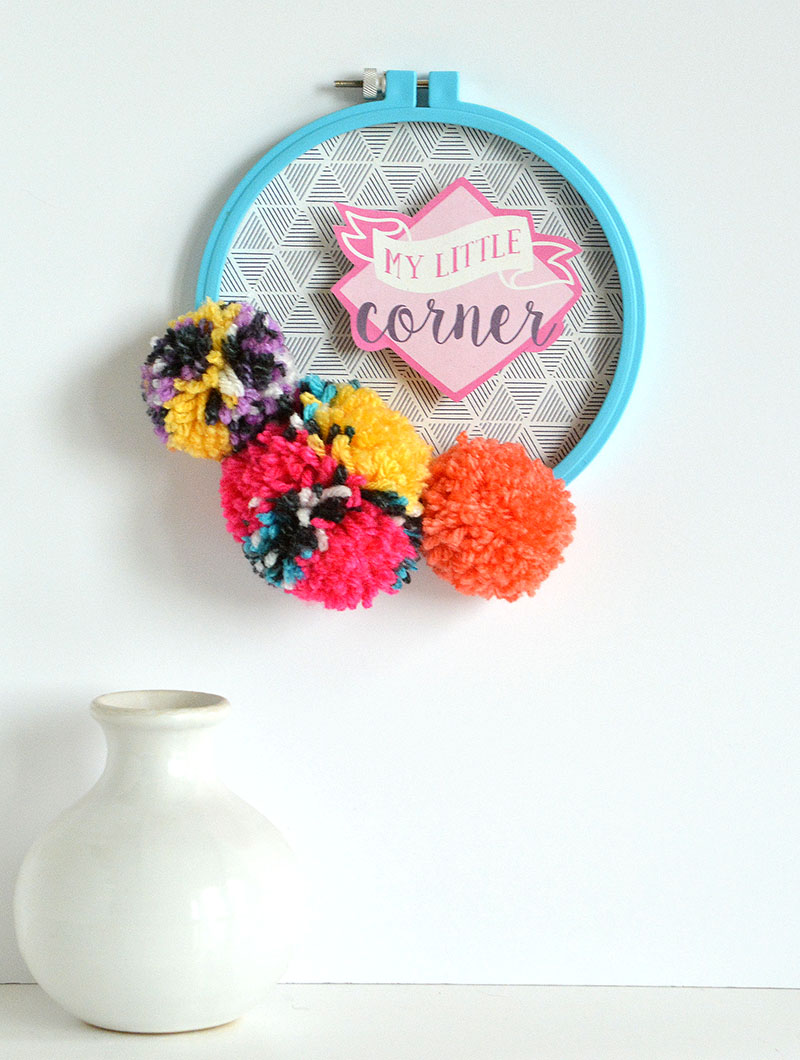 Pom Pom Wall Hanging pom pom wall hanging | we r memory keepers blog