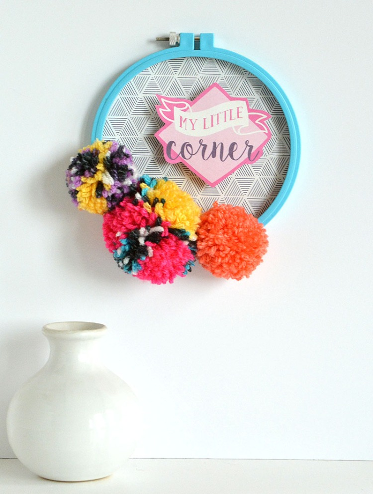 Pom Pom Wall Hanging by Amanda Coleman for We R Memory Keepers