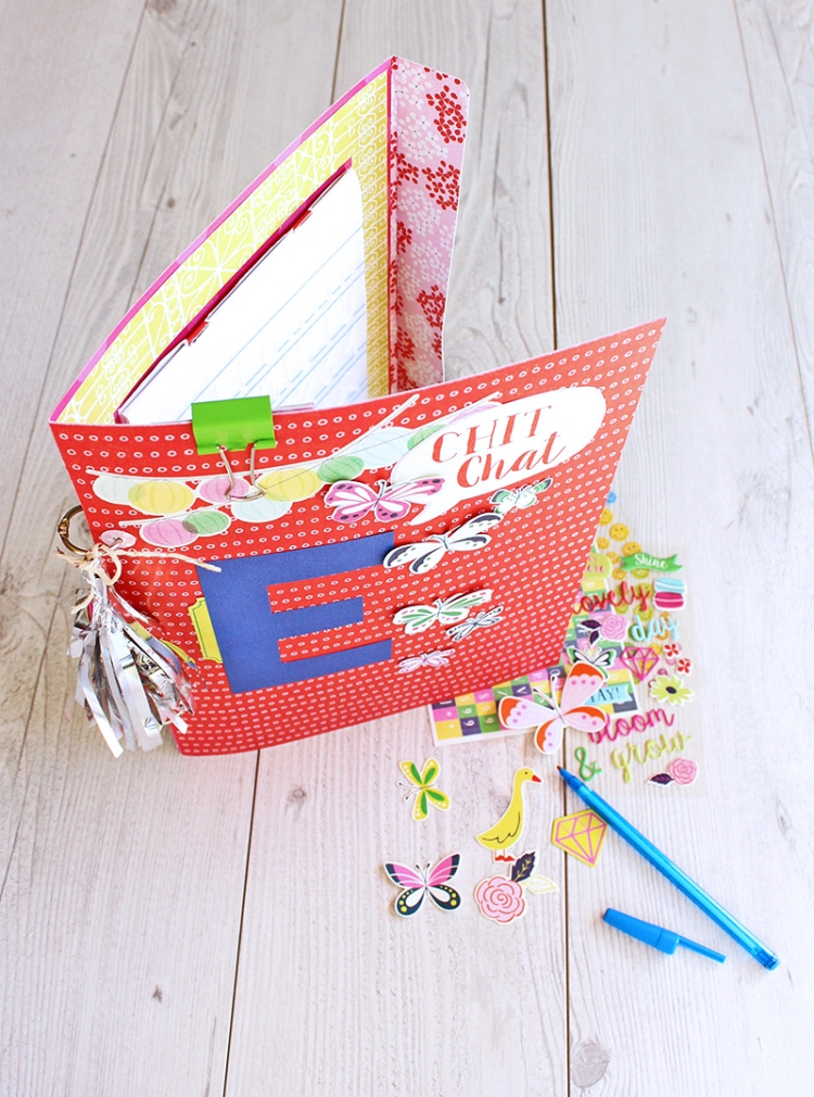 Stationery Folder by Chantalle McDaniel for We R Memory Keepers