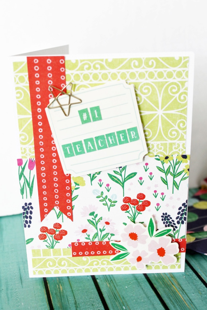 Teacher Appreciation Card by Laura Silva for We R Memory Keepers