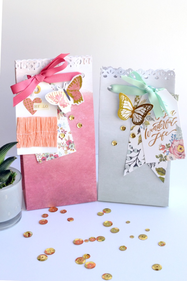 Wildflower Gift Bag Punch Board project by Aly Dosdall