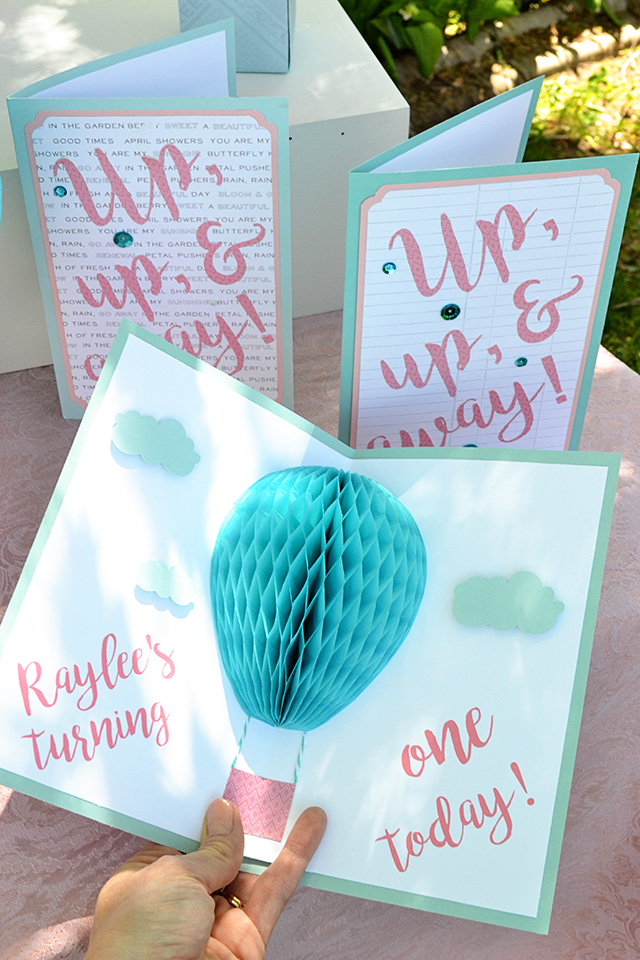 It Was Easy To Create All Of These Hot Air Balloon Shapes In Various Sizes And Colors With The Diy Party Honeycomb Pads And Stencils