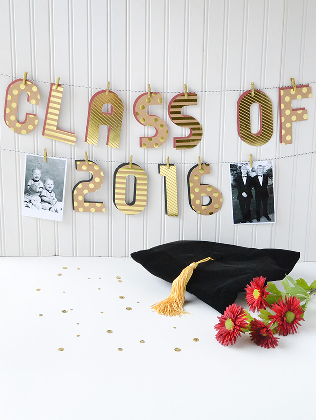 Alphabet Punch Board Graduation Banner by Aly Dosdall 1