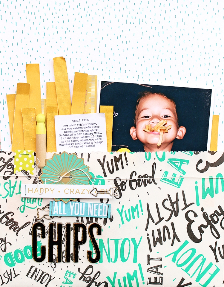Chips layout by Chantalle McDaniel