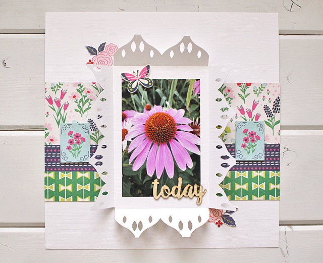 rosette border punch layout Kimberly Crawford