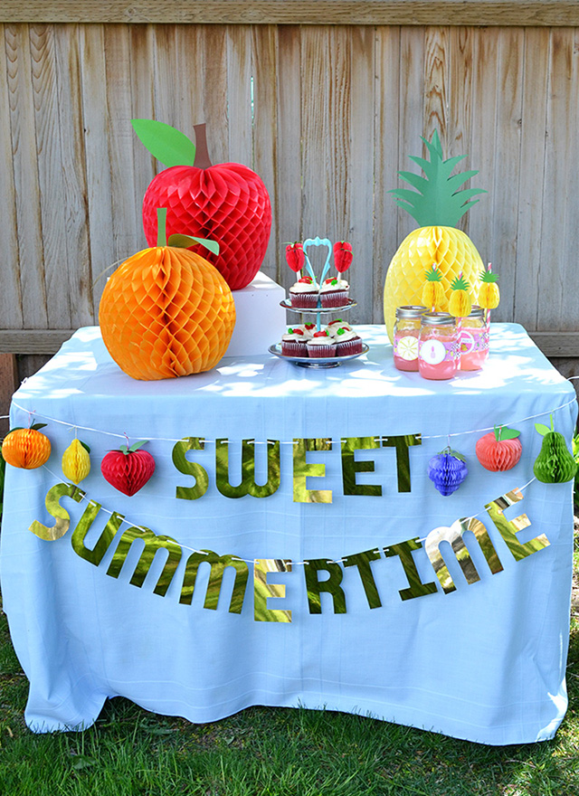 Honeycomb Paper Fruit Party Decor We R Memory Keepers Blog