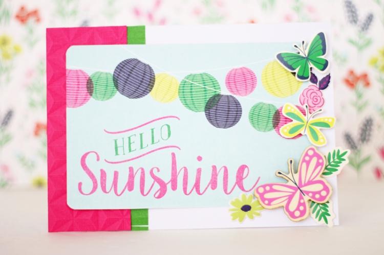 Hello Sunshine Summer Card by Laura Silva 1
