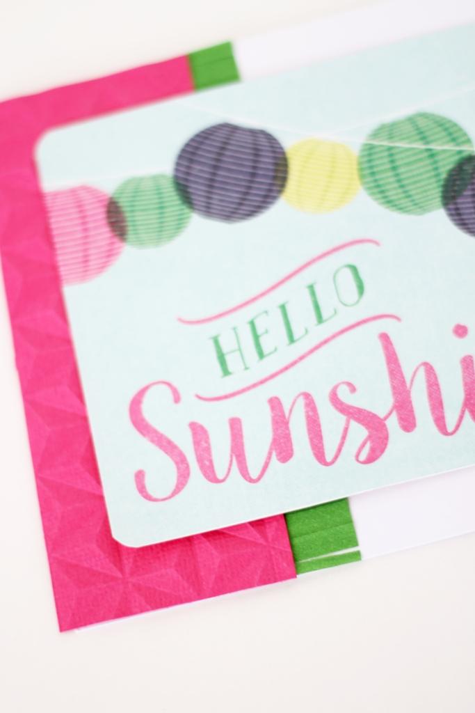 Hello Sunshine Summer Card by Laura Silva 7