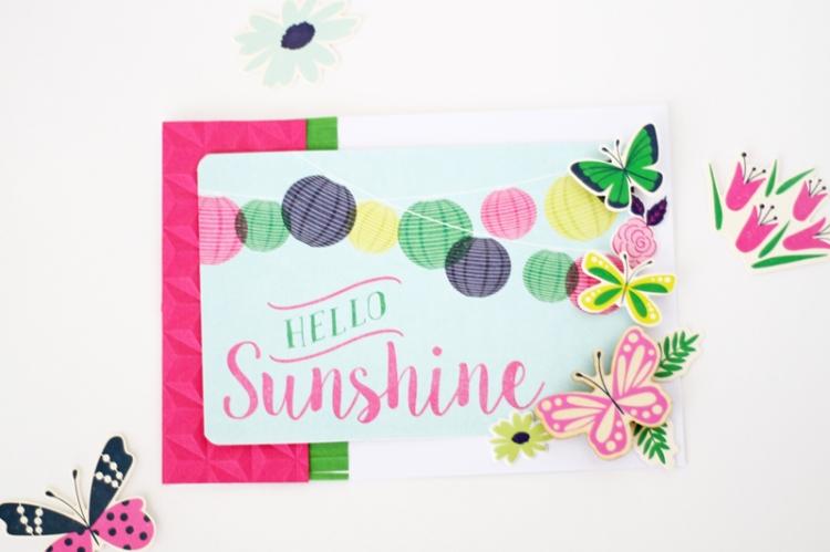 Hello Sunshine Summer Card by Laura Silva 8