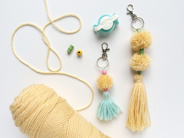Pom Pom Charms with We R Pom Pom Maker