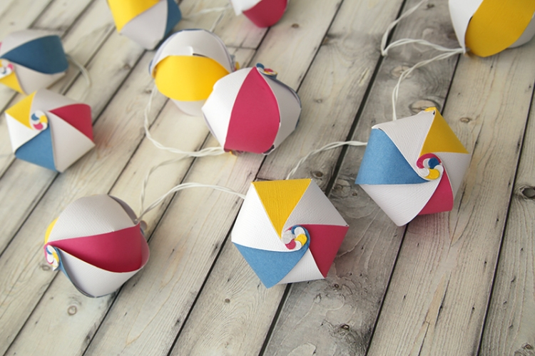Beach Ball Garland by Eva Pizarro 1