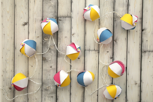 Beach Ball Garland by Eva Pizarro 7