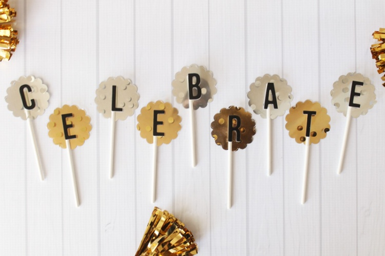 Celebrate Cupcake Toppers by Laura Silva 7