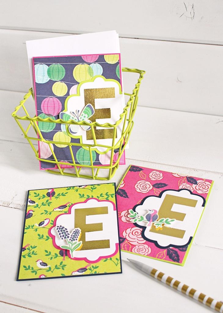 monogram card set Kimberly Crawford