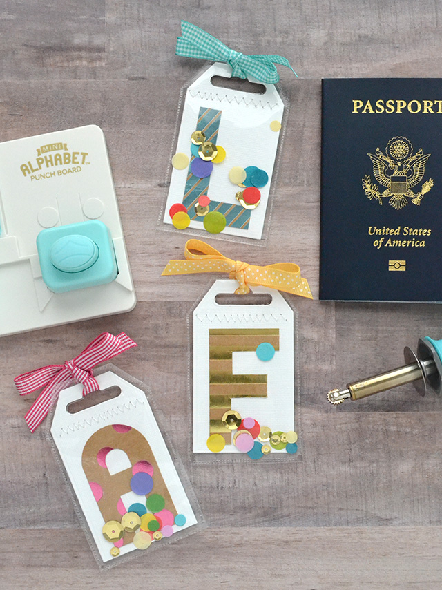 Monogram Luggage Tags by Aly Dosdall 1
