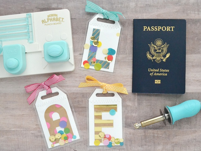 Monogram Luggage Tags by Aly Dosdall 2